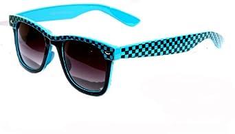 checkered wayfarer sunglasses