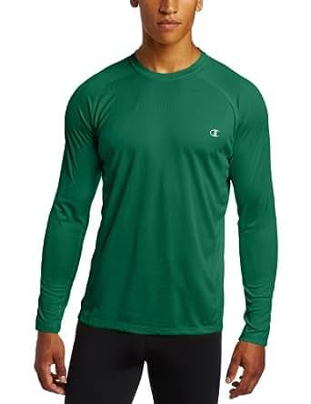Champion Double Dry® Long-Sleeve Mens T Shirt # T2097, XXL-Varsity Green