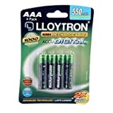 Lloytron 4Pk NIMH AccuDigital Battery - AAA 550mAhby LLOYTRON