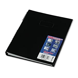 Blueline NotePro Notebook, Black, 11 x 8.5 Inches, 300 Pages (A10300.BLK)