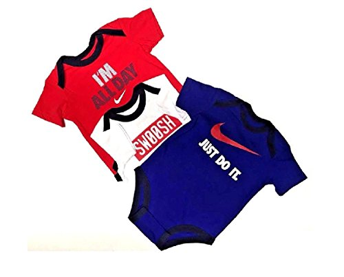 Baby Boys Nike Bodysuits 3 Pack 0/3 Months