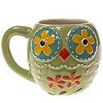 Stoneware Owl Mug - Green