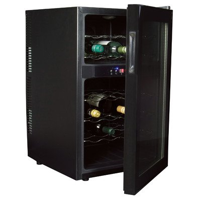 Koolatron WC24 Black 24 Bottle Digital Temperature Control Dual-Zone Wine Cellar