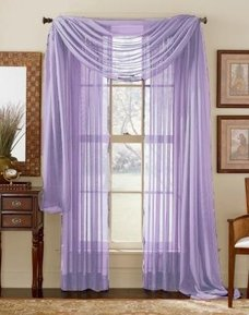 84 Long Sheer Curtain Panel Light Purple Home Kitchen