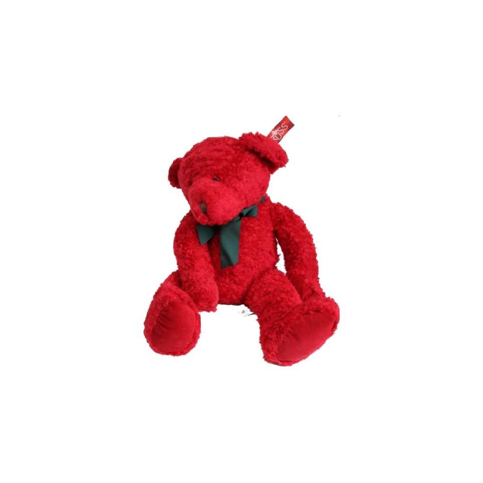 Russ Redford 27 Red Holiday Plush Teddy Bear