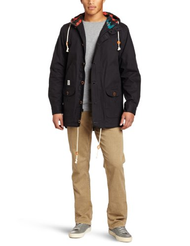 Crooks and Castles Mens Woven Parka Mayan Black: Large