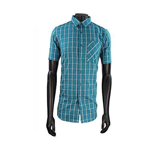 Da uomo Oakley Mist Smalto Blu a maniche corte maglietta SRP £55 Verde verde