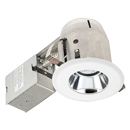 Globe Electric Globe Electric 9202601 4 Inch Recessed Lighting Kit, White Finish With Chrome Reflector