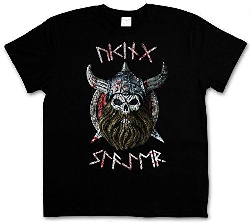 VIKING SLAYER T-SHIRT - Warrior Viking Thor norvegese Odin Scandinave Ragnarök Loki Vikings Rune T-Shirt Taglie S - 5XL