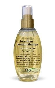 OGX Shimmering Keratin Oil, Ever Straight Brazilian Keratin Therapy, 4oz