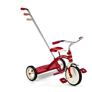 Radio Flyer 10-inch Classic Trike with Push Handle (Red)