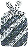 14K WG .76ct Black & White Diamond Pendant Jewelry