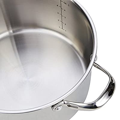 Cooks Standard NC-00203 Classic Stainless Steel 10-Piece Cookware Set