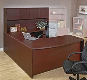 Amazon.com - Napa Collection U-Shaped Desk with Hutch [NAPTYP12-FS