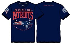NFL New England Patriots Big Time Distressed T-Shirt Licensed by A-Team Apparel