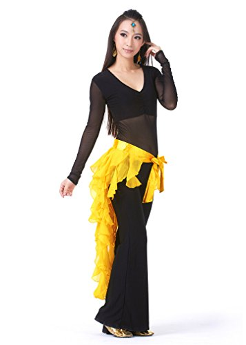 Dreamspell Yellow nine-tailed Fox Leaf Skirt triangle belt Shipment from US