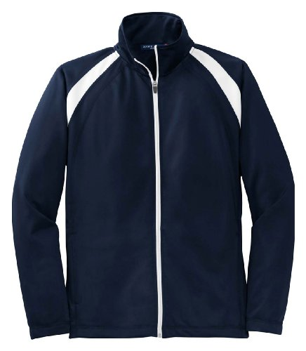 Sport-Tek - Tricot Track Jacket.,Large,True Navy / White