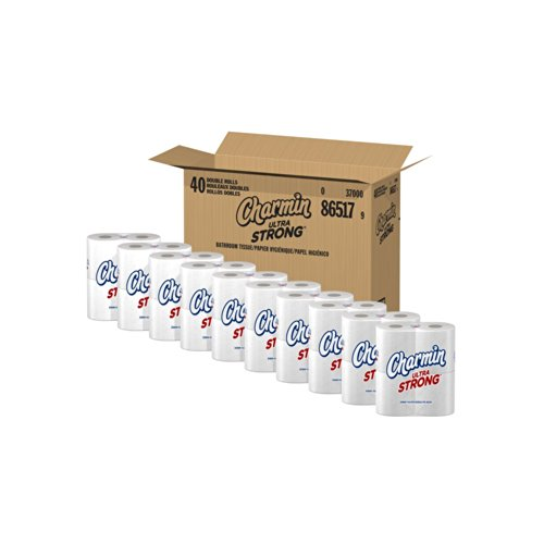 Charmin Ultra Strong Toilet Paper, Double Rolls (Economy Size 80 Count)