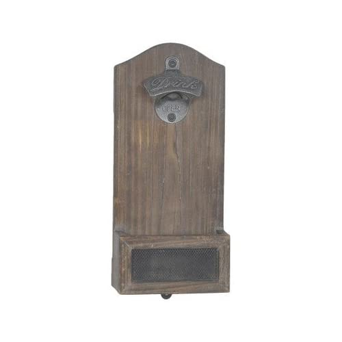 Vintage Mounted Bottle Opener - Wood