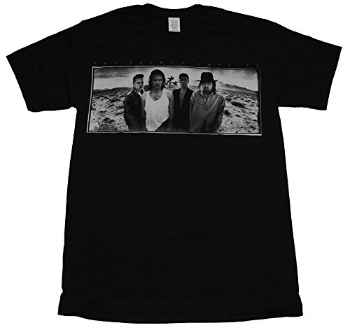 Official U2-Joshua Tree-1987European Tour t shirt Black X-Large