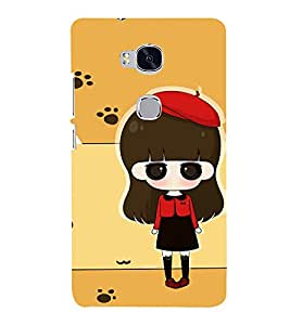 Winking Girl with Red Cap 3D Hard Polycarbonate Designer Back Case Cover for Huawei Honor 5X :: Huawei Honor X5 :: Huawei Honor GR5