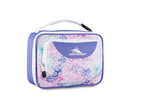 High Sierra Single Compartment Lunch Bag, Delicate Lace/Lavender/White