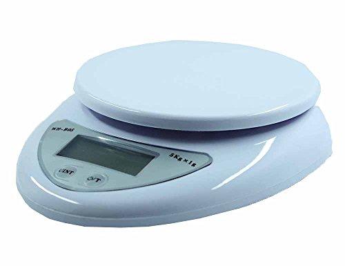 ARETOP® Balance de alimentaire électronique avec Bol Amovible Blanc Capacité 5kg