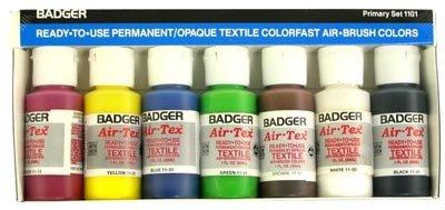 Primary set Air-Tex Fabric 1-o (Red,Yel,Blu,Brn,Grn,Wht,Blk) - T-Shirt Paint