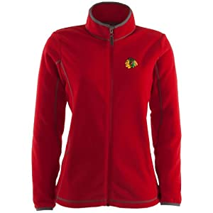 Chicago Blackhawks Ladies Red Ice Jacket by Antigua by Antigua