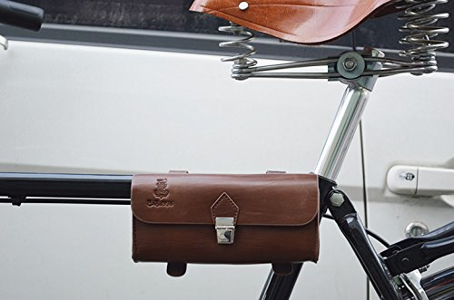 Handmade PU England Vintage Bike Saddle Bag Size 189cm4.5cm 2