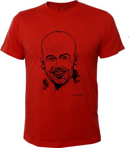 mister-merchandise-homme-football-chemise-t-shirt-pep-guardiola-size-xl-color-rouge