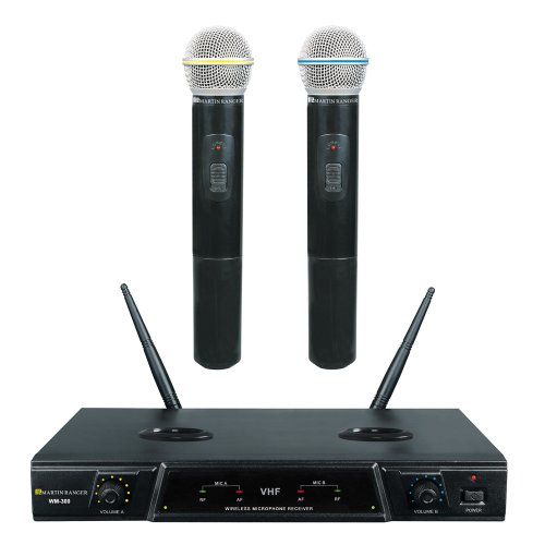 Martin Ranger WM-200 VHF Dual Channel Rechargeable Wireless Microphone
