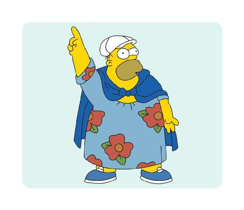 Brand New Simpsons Mouse Pad Fat Homer in a Dress