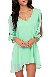 DJT Women Sexy Off Shoulder V-neck A-line Strapless Loose Casual Blouse