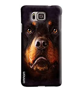 Omnam Bear Face Closeup Printed Designer Back Cover Case For Samsung Galaxy Alpha