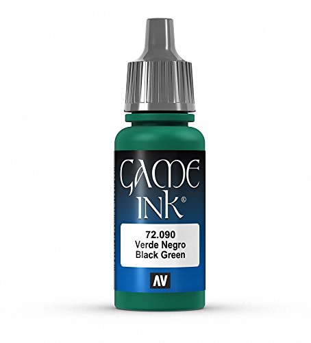Vallejo Game Color Black Green Paint, 17ml