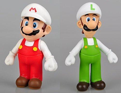 """Super Mario Bros 5"""" / 12cm Mini Mario & Luigi 2pcs Set PVC Action Figures Doll Anime Collection Model Toy"""