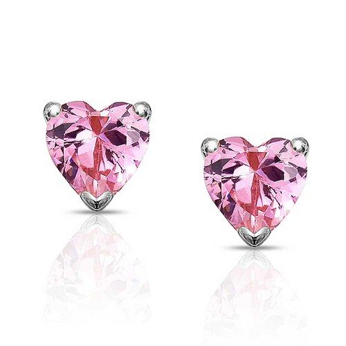 Bling Jewelry Pink Cubic Zirconia Stud Earrings