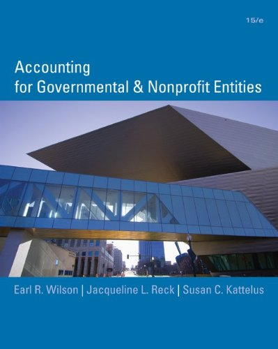 Accounting for Governmental and Nonprofit Entities with...