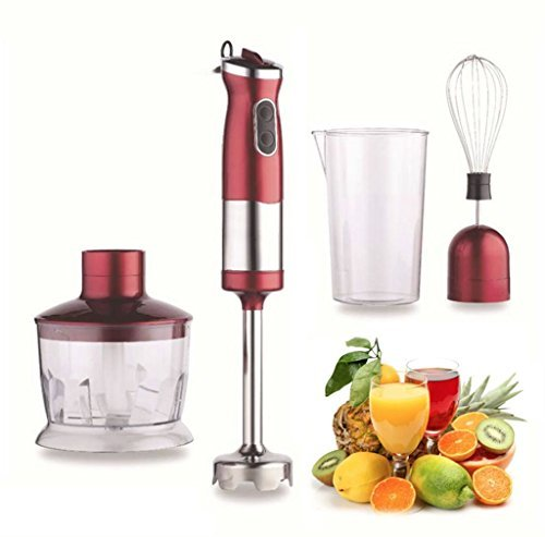hand-blender-food-mixer-750w-red-processor-4-in-1-whisk-egg-beater-easy-clean