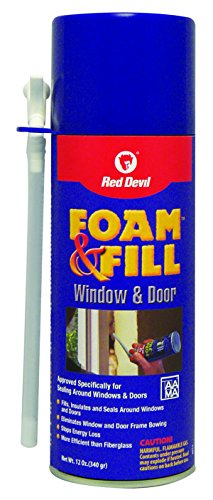 Red Devil 0914 Window And Door Foam, 12-Ounce, Off White front-755747