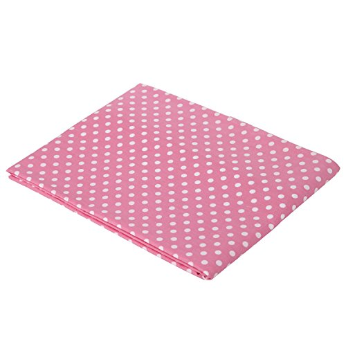 Pink pin Dots Crib fitted sheet