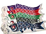 Japanese Cotton Carp Wind Socks - Koinobori, Set of 5, 29 inch (#G633)