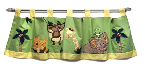 NoJo Jungle Babies Window Valance - 1