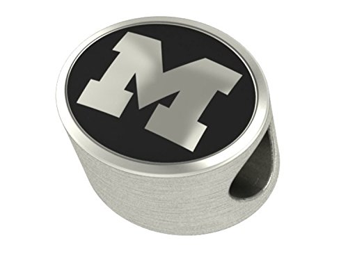 Michigan Wolverines Bead Fits Most European Style Charm Bracelets