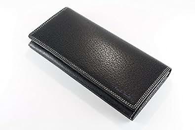 ポールスミス 財布 かぶせ長財布 メンズ ブラック pauls018