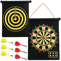 Magnetic Roll-up Dart Board and Bullseye Game w/ Darts. Product Category: Toys & Games > Toys