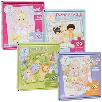 Precious Moments 35th Anniversary 24 Piece Puzzle 4-Pack