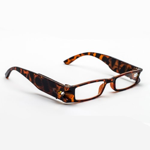 Lighted Reading Glasses, Tortoise, +1.75