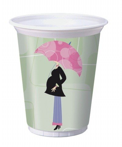 Mod Mom Baby Shower Plastic Cup 8ct